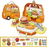 Amyove Kinder niedlichen Cartoon Spielhaus Koffer Form Spielzeug Set Hamburger