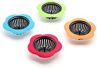 Silicone Kitchen Sink Strainer 4 Pack,Plainmarsh Drain FilterLarge Wide Rim 4.5
