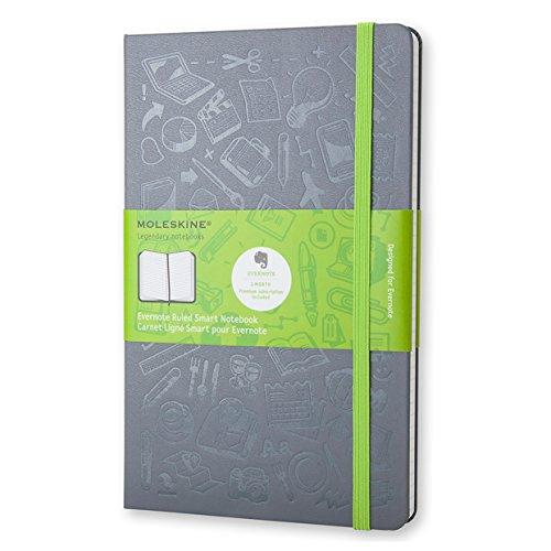 Moleskine Evernote Smart Notebook, Hard Cover, Large...