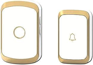 KOPOU Draadloze eenvoudige deurbel met 36 klokken, 100-240V 300m bereik lichtgewicht deurbel met ontvanger, deurbel geschi...