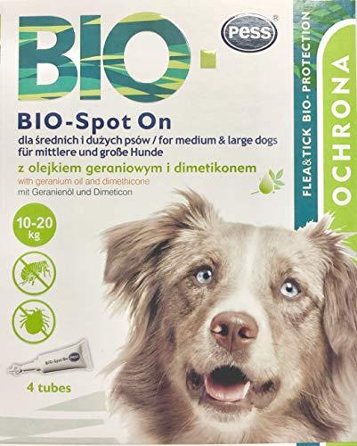 BIO-Spot On 4 Pipetas I Medio natural contra garrapatas y pulgas I Protección contra garrapatas para perros y gatos a base de biología para perros y gatos pequeños