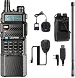Baofeng UV-5R Two Way Radio with 3800mAh Battery and Programming Cable ZT-48 Antenna and Radio Case