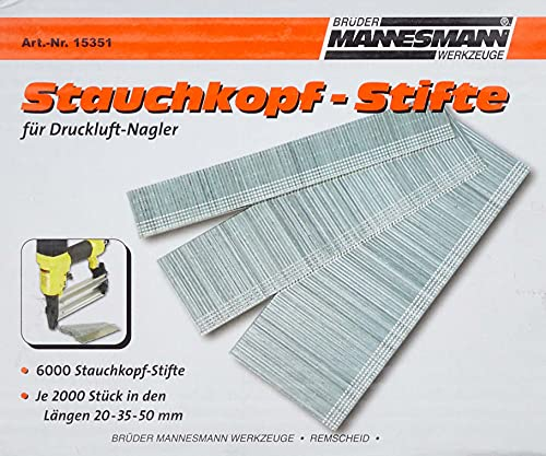 Brüder Mannesmann M15351 - Clavos de repuesto para clavadoras neumáticas 15350