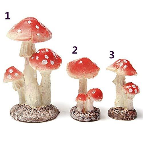 LACKINGONE 1 mini champignon champignon en résine pour décoration de jardin