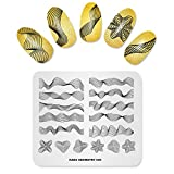 KADS Nail Stamping Plate Geometry Template Image Design Plates for Nail Art Decoration and DIY Nail Art(GE005)