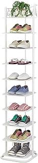 Ibequem Zapatero de metal con 10 niveles organizador de zapatos torre vertical para el hogar estantes para el salón ve...