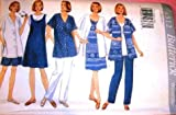 Butterick Sewing Pattern 4512 Misses' Maternity Shirt, Dress, Top, Shorts &...