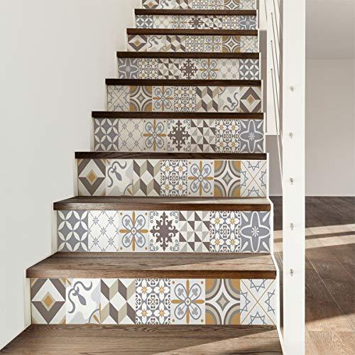 Ambiance-Live col-stairs-ROS-A932_30x105x3 Pegatinas de Pared, Acrílico, Ornements Sobres, 6 bandes de 15 x 105 cm