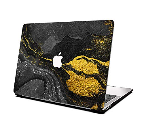 AOGGY - Carcasa para MacBook Pro de 13 pulgadas (2012/2013/2014/2015), versión A1425/A1502 (con pantalla Retina), color dorado y negro