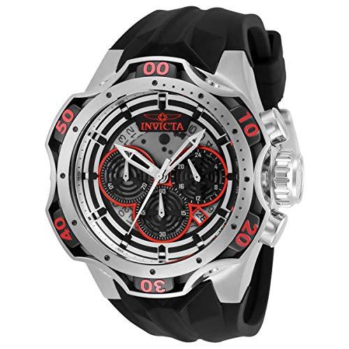 Invicta Venom 33630 Reloj cronógrafo de cuarzo con esfera negra para hombre