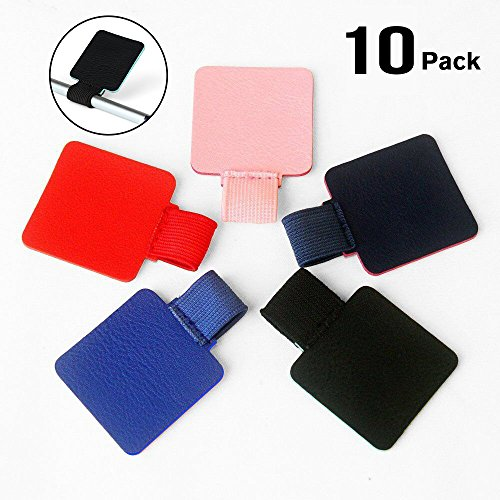 10 Pack Adhesive Pen Loop, Volin Crik Self-adhesive Pen Holder Pencil Elastic Loop Designed For Notebooks, Journals,Calendars, Multicolor