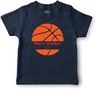Personalized Custom Basketball Player Sport Cotton Boys-Girls Toddler T-Shirt