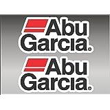 """6"""" Abu Garciaペア釣りロゴデカールビニールステッカーグラフィック"""
