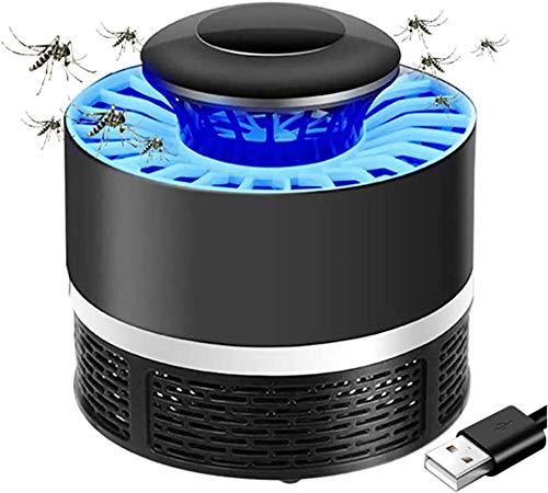 GYLEJWH Mosquito Lampada Dell assassino, Nessuna Radiazione Bug Zapper Collettore Zanzara Cordless USB Alimentato Fly Assassino Casa al Coperto,Nero