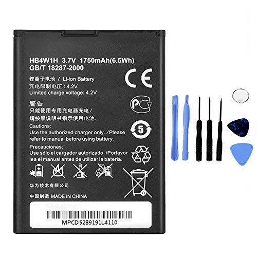 Ellenne Batteria Compatibile con Huawei Ascend G510 G520 G525 Y530 HB4W1H Alta capacità 1750MAH con Kit SMONTAGGIO Incluso