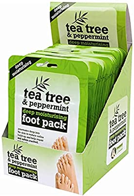 Deep Cleansing & Moisturising Foot Pack- Removes Calluses & Dead Skin Cells- Intensive Care For Feet - Tea Tree & Peppermint (15) from