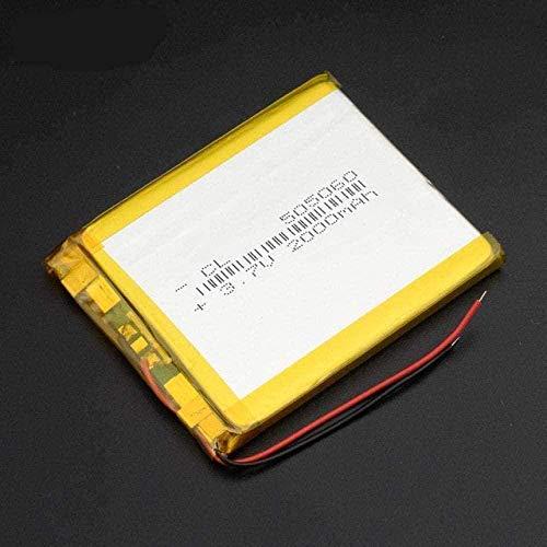 505060 3.7 V 2000 MAH LI Polymer LITIUM LIPO LIPO batería Recargable para el navegador GPS MP3 DVD DVD Tableta de batería Externa-PC 1