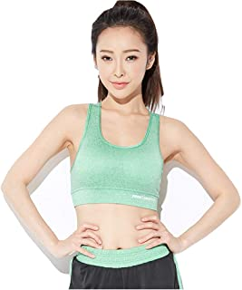 BaronHong Petite Women Racerback Sports Bras - High Impact Workout Gym Activewear Bra