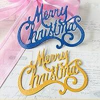 卸売ダイカットダイスメリークリスマスメタルクラフトペーパーダイスクラップブッキング/DIYエンボス金型クリスマス年賀状