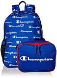 Champion unisex child & Youth Backpack Lunch Kit, Blue/Red, One Size US