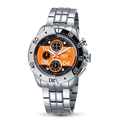 Time100 Orologio al Quarzo in Acciaio INOX Cronografo 100m di Impermeabilità Uomo#W70105G.03A