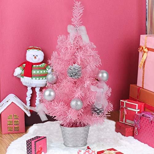 Bageek Mini Albero di Natale 17.7in Albero di Natale Creativo Artificiale Miniatura Tavolo da Tavolo Ornamento