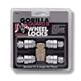 Gorilla Automotive 61631N Chrome Acorn Gorilla Guard II Wheel Locks - Set of 4 (12mm x 1.50 Thread Size)