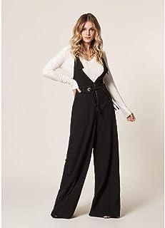 Macacão Pantalona Zíper E Amarração