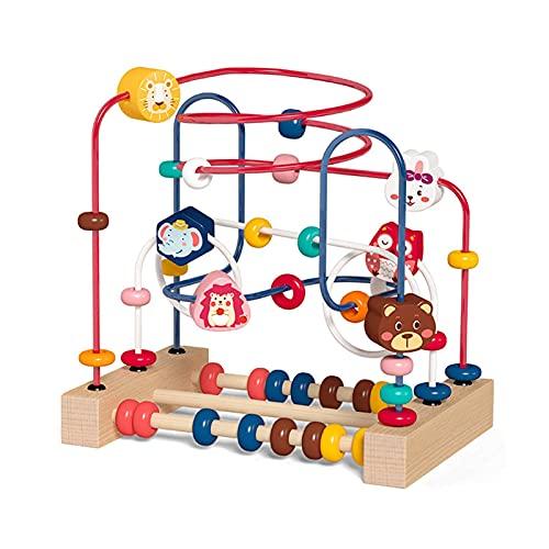 Labyrinth Spielzeug 5 In 1 Motorikschleife Baby Spielzeug Perlen Labyrinth Motorikwürfel Lernspielzeug Abakus Kinderspielzeug Ab 1 2 3 Jahr Junge Mädchen Kinder
