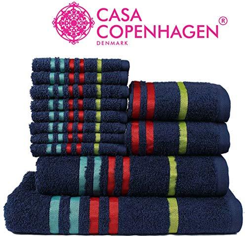 100/% cotone Silver Set di asciugamani morbidi da bagno per viso mani 10 pezzi Casabella doccia 10 pezzi