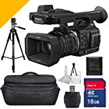 Panasonic Hc-x1000 4k Camcorder with Camera Case, Full Size Tripod, Memory Card and Card Reader + Bonus 5avecamera Starter Kit