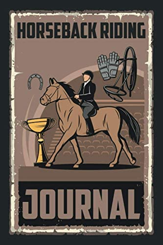 Horseback Riding Journal Horse Racing Training Log Book for Men and Women Gift for Horse Riders product image
