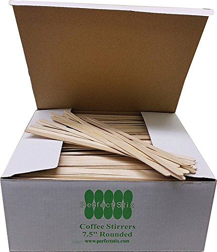Perfect Stix Wooden Coffee Stirrer Stick, 7-1/2' Length (Pack of 100)