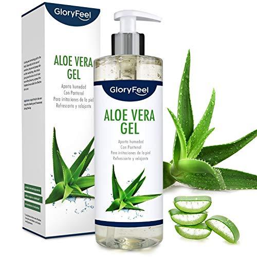 Aloe Vera Puro 500ml - Cultivo controlado 100% ecológico - Hidratante natural - Loción calmante y refrescante para despues del sol - Probado dermatologicamente - Para todo tipo de piel