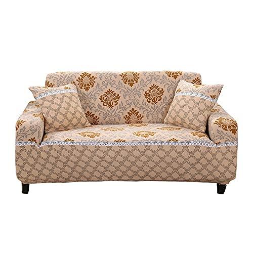 WXQY Moderner bedruckter elastischer Sofabezug, floraler Kombinationssofabezug, Rutschfester Sofabezug, Möbelbezug A13 3-Sitzer