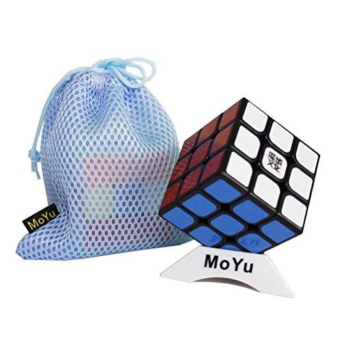OJIN MoYu AoLong V2 Aolong Enhanced 3x3x3 Cube Puzzle Puzzle Teaser Twist Puzzle Toys con una Bolsa de Cubo y un trípode de Cubo (Negro)