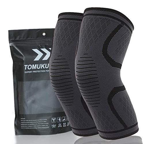 Tomuku Sport Knie-Bandage 2 x Kniebandage Damen und Herren Knie warm Shutz, Knieschoner, für Laufen, Wandern, Joggen, Sport, Volleyball