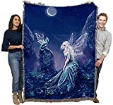 Luminescent - Rachel Anderson - Cotton Woven Blanket Throw - Made in The USA (72x54)