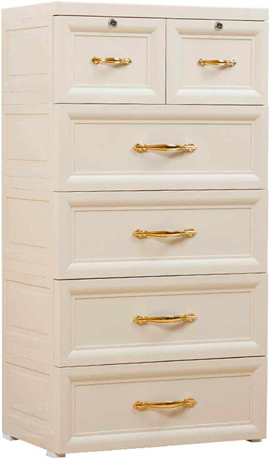 Zzg-2 Widening Finishing Cabinet, Living Room Frosted Feeling Combination Plastic Locker Thicken Drawer Type Storage Box, 40  60  113CM (color   White)