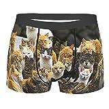 Fancy cats family life - Calzoncillos tipo bóxer para hombre, transpirables, suaves, elásticos, ropa interior
