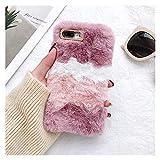 Glqwe Funda pulidora cálida Linda para iPhone 12 Mini Pro MAX 6 7 8 11 S Plus X S XR MAX MAX Soft TPU Cubierta de Piel (Color : Pink, Material : For iPhone 7s)
