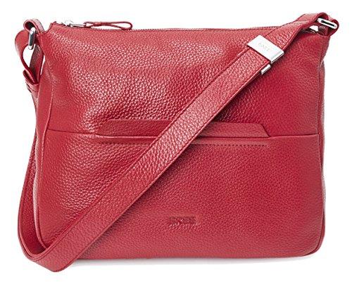 BREE Faro 2 | Cross Shoulder Bag | Größe M | Hobo-Form | Brick red