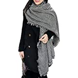 Tartan Blanket Scarf Wrap Shawl Houndstooth Cashmere Scarf