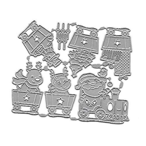 Navidad del Coche De Metal De Corte con Troquel Sello De La Plantilla De Bricolaje Álbum De Recortes Álbum De Papel Tarjeta De Grabación En Relieve De La Decoración del Arte