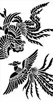 ポスター ウォールステッカー 長方形 シール式ステッカー 飾り 60×31cm Msize 壁 インテリア おしゃれ 剥がせる wall sticker poster アニマル 鳥 とり 黒 ブラック イラスト 008009