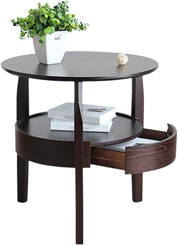 CSQ Tabelle, Couchtisch, Beistelltisch, Schliefach, Beistelltisch Sofa Nachttisch Schreibtisch Frisiertisch Holz Esstisch Material Beistelltisch 50-60CM Kaffetisch (Farbe   C, gre    2)