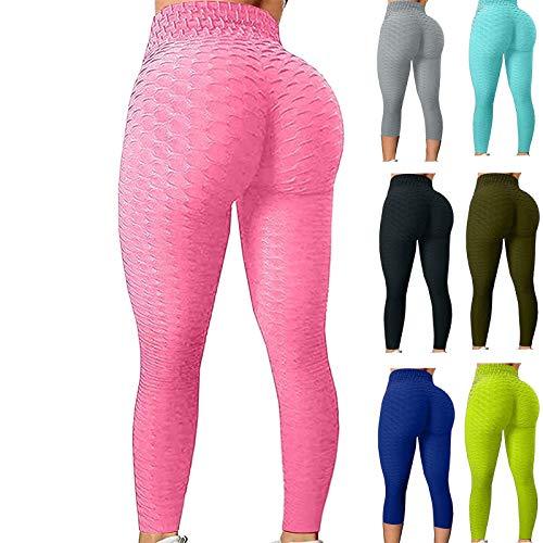 Pantalones de yoga de elevación de culo para las mujeres, las mujeres de cintura alta de las mujeres Leggings atractivos de entrenamiento de la abdanza Control deportivo ( Color : A , Size : Medium )