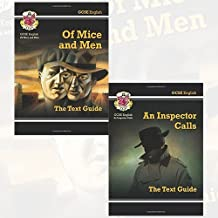 GCSE English Text Guide Higher Level 2 Books Bundle Collection (GCSE English Text Guide - An Inspector Calls, GCSE English Text Guide - Of Mice & Men)