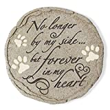 Cat or Dog Grave Marker or Garden Memorial Stone. No Longer By My Side But Forever In My Heart, Rainbow Bridge Pet Memorial Gifts. Waterproof and Weatherproof Pet Plaque, Condolence Gift