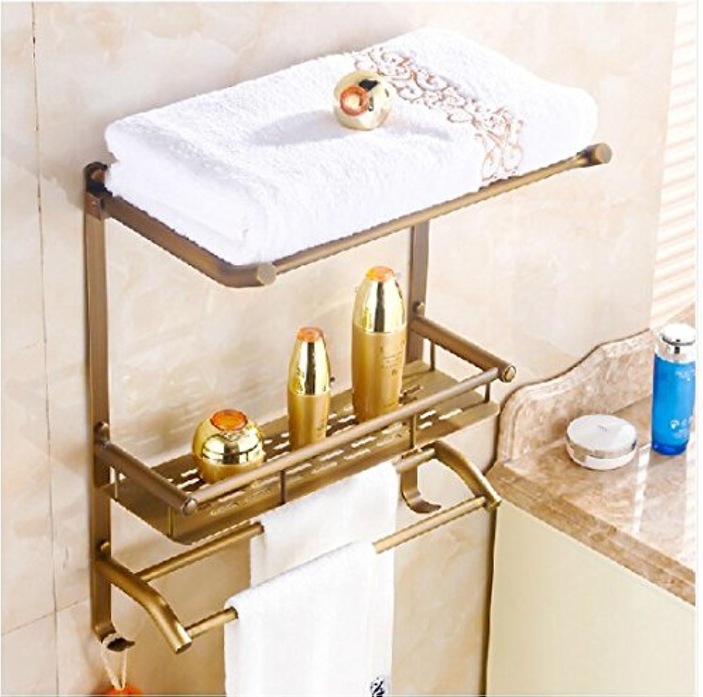 Gowe? Classical Antique Brass Bath Shelf Wall Mounted Storage Holder